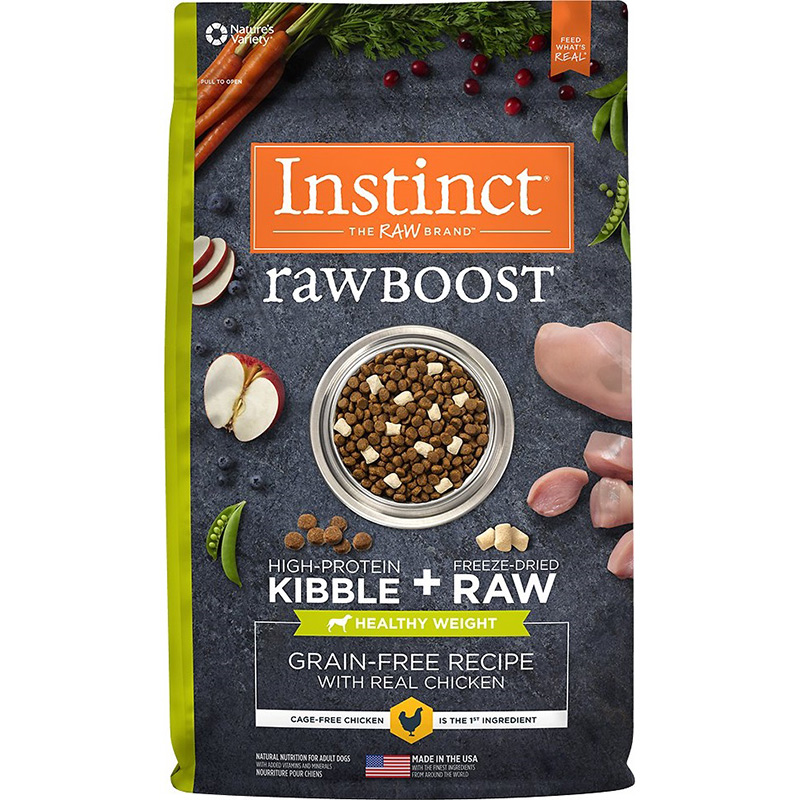 Instinct Raw Boost Grain-Free Recipe with Real Chicken for Healthy Weight 20 lbs. I014815