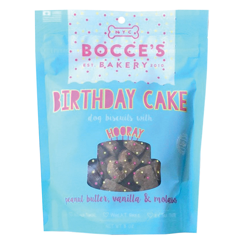 Bocce's Bakery Birthday Cake Biscuits 5 oz. I014821