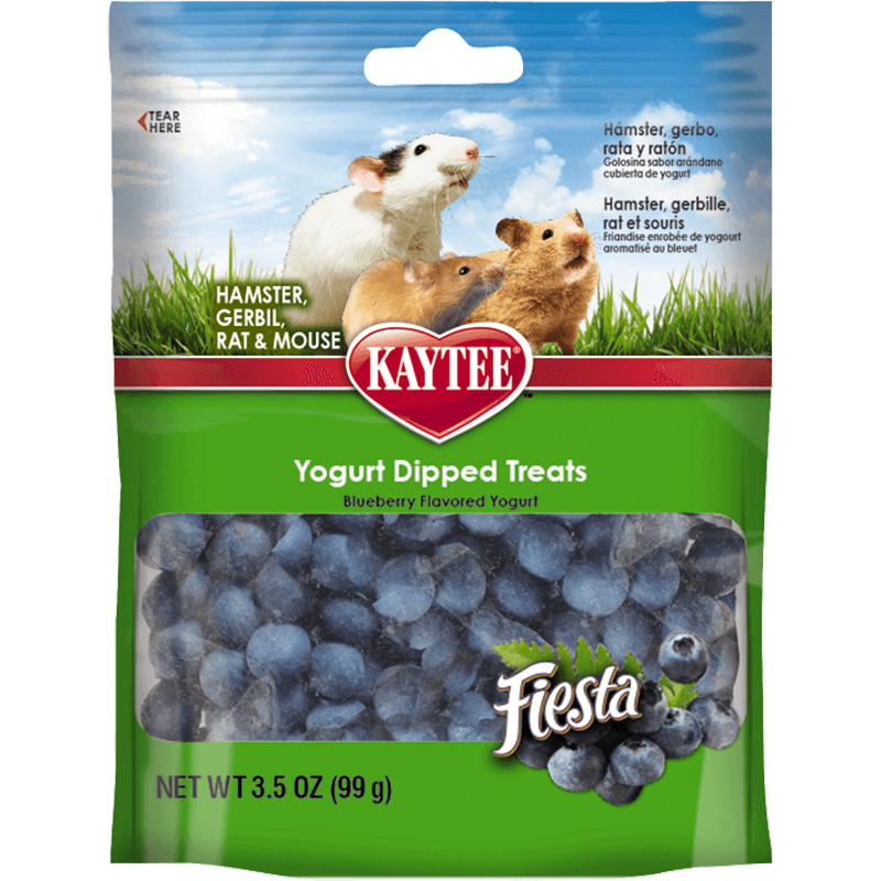 Kaytee Fiesta Blueberry Flavor Yogurt Dipped Treats 3.5 oz. I014841