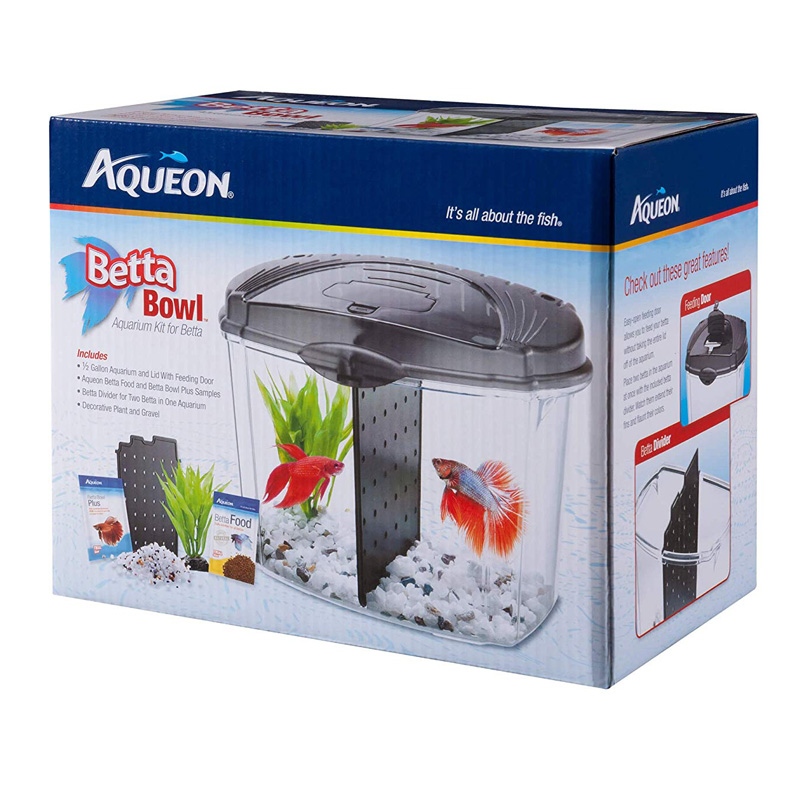 Aqueon Betta Bowl Kit Black .5 gal I014860