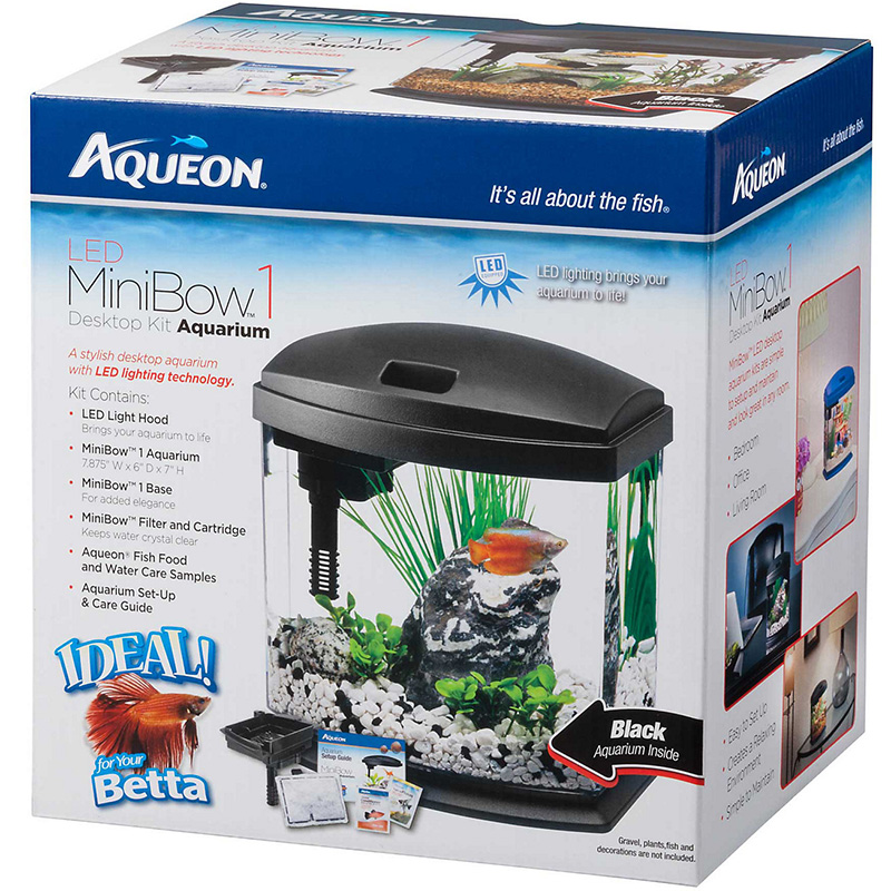 Aqueon MiniBow Black Aquarium Kit I014862b