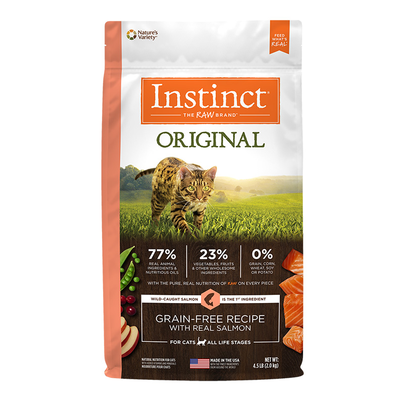Nature's Variety Instinct Original Grain-Free Recipe with Real Salmon Dry Cat Food I014876b