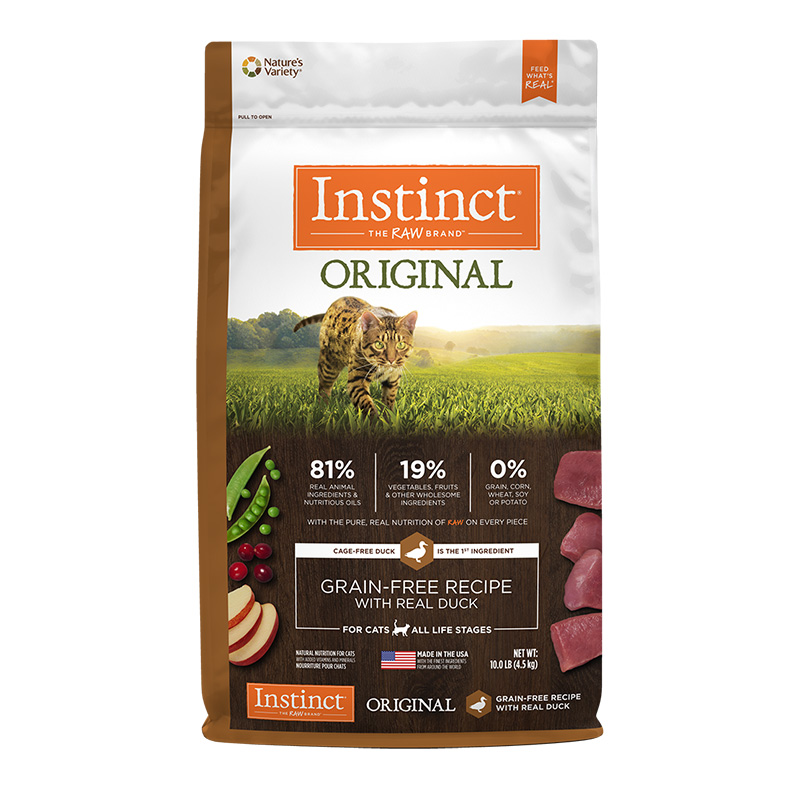 Nature's Variety Instinct Original Grain-Free Recipe with Real Duck Dry Cat Food 10 Lb I014877