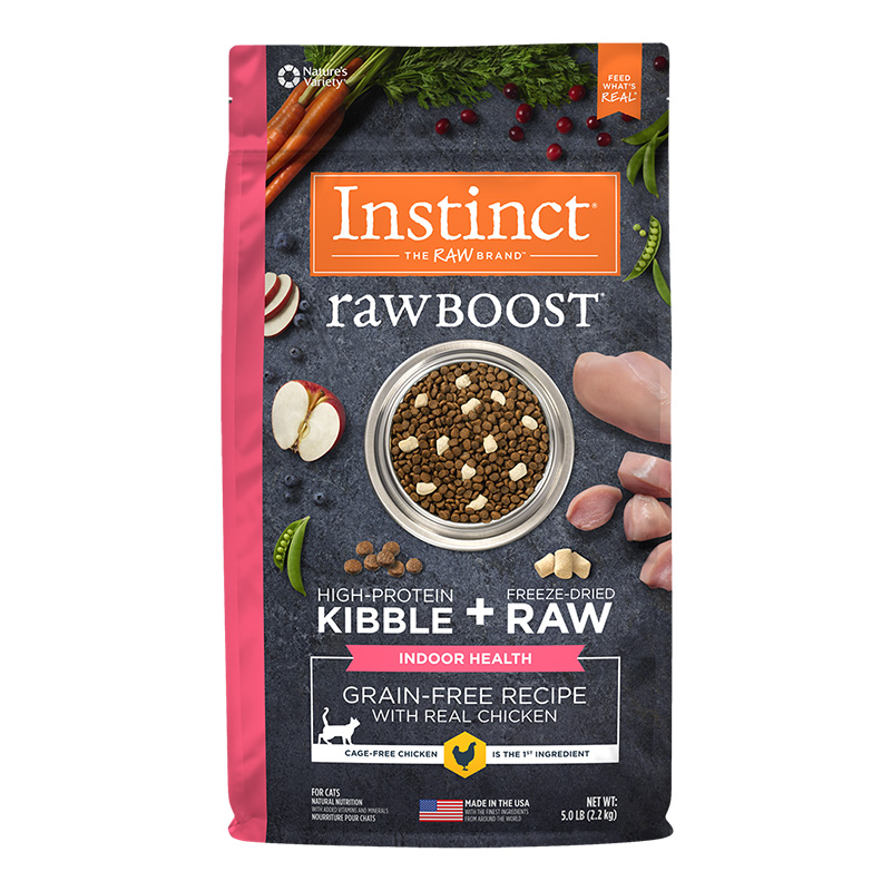 Nature's Variety Raw Boost Healthy Weight Grain-Free Chicken Recipe Dry Cat Food 5 Lb. Bag I014881