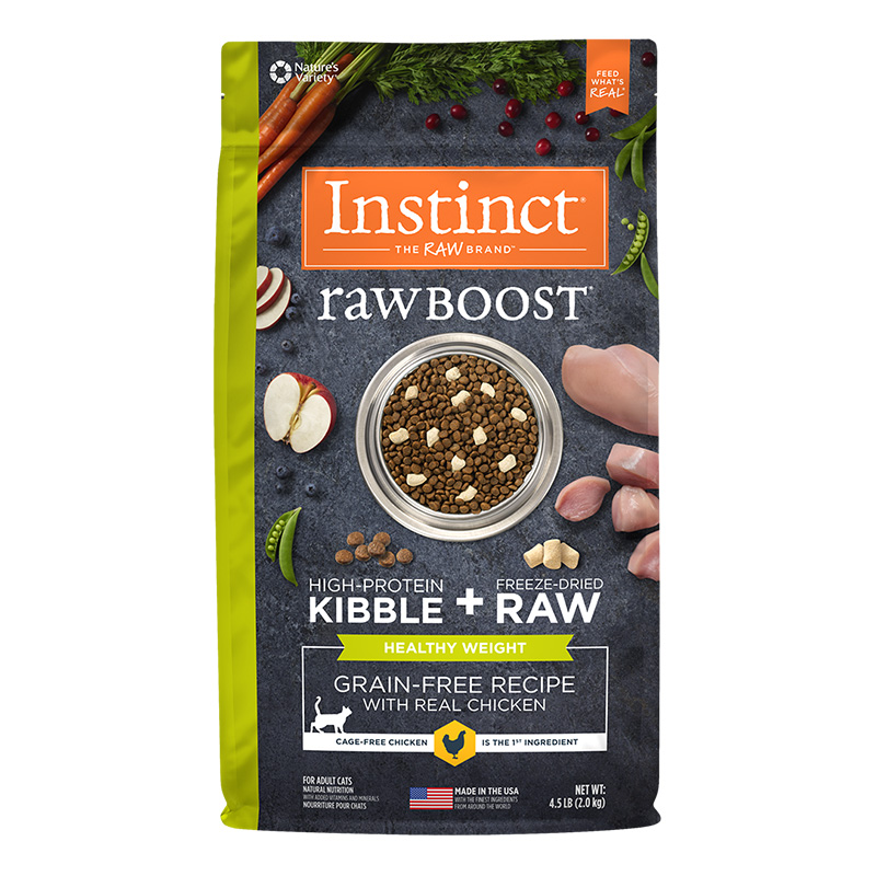 Nature's Variety Istinct Raw Boost Healthy Weight Grain-Free Chicken Recipe Dry Cat Food 4.5 Lb. Bag I014882