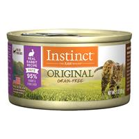 Nature's Variety Instinct Ultimate Protein Grain-Free Real Rabbit Recipe Wet Canned Cat Food 3 oz I014887