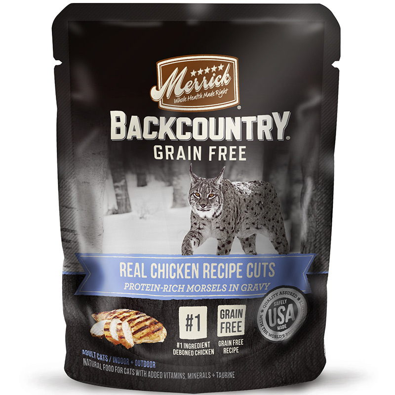 Merrick Backcountry Real Chicken Recipe Cuts for Cats 3 oz. I014924