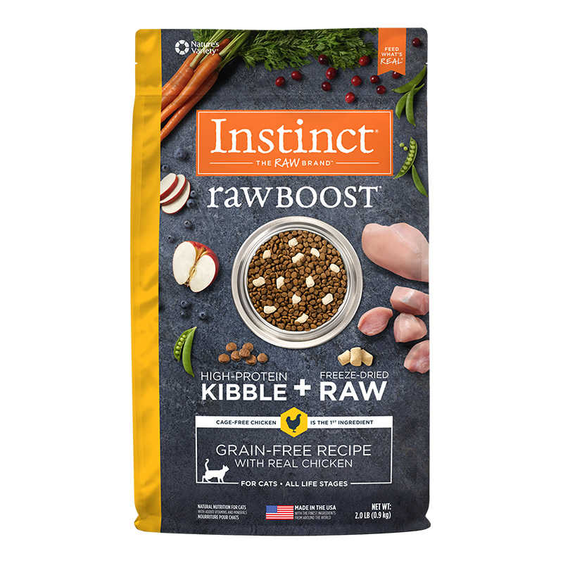 Nature's Variety Instinct Raw Boost Healthy Weight Grain-Free Chicken Recipe Dry Cat Food I014937b