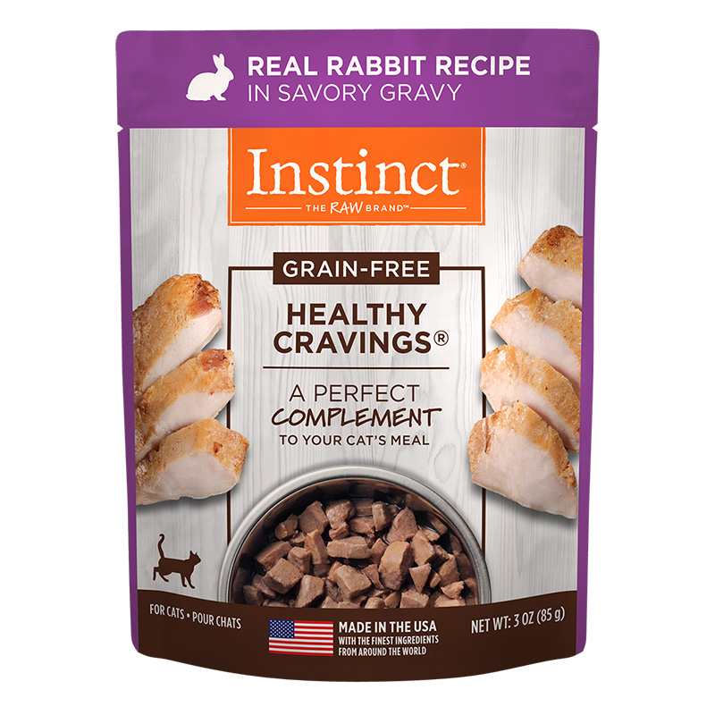 Variety Healthy Cravings Grain-Free Real Rabbit Recipe Wet Cat Food Topper 3 oz pouch I014941