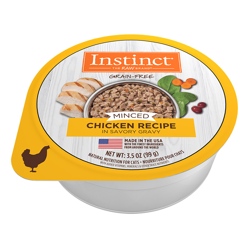 Nature's Variety Grain-Free Minced Recipe with Real Chicken Wet Cat Food Cup 3.5 oz I014944