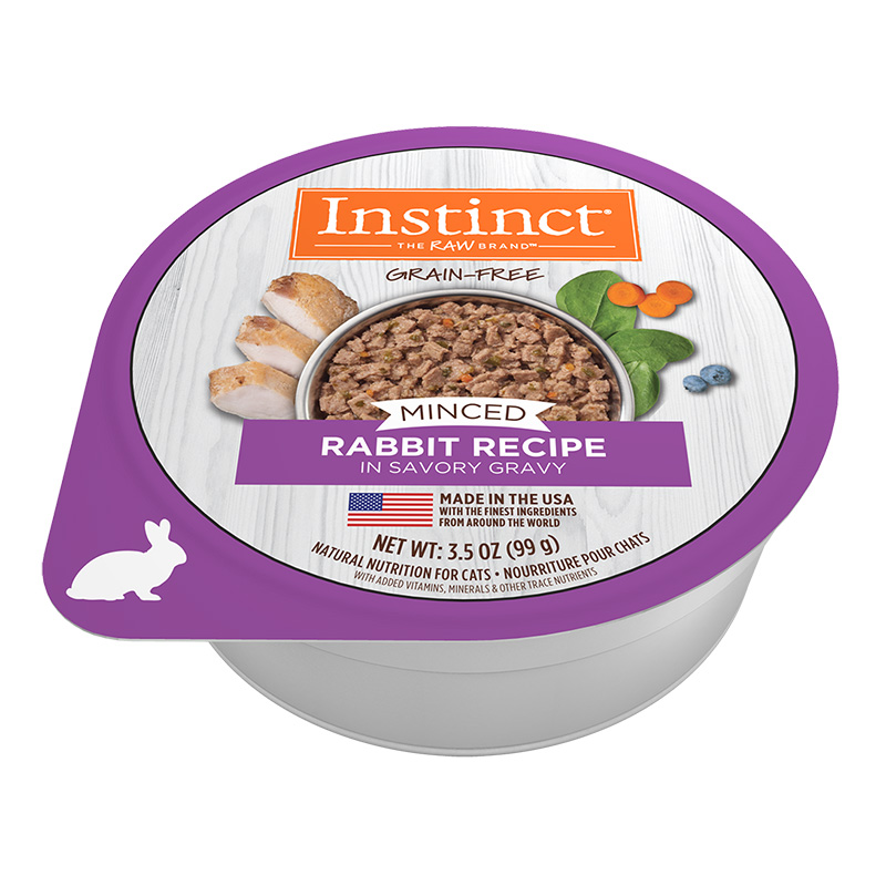 Nature's Variety Grain-Free Minced Recipe with Real Rabbit Wet Cat Food Cups 3.5 oz I014945