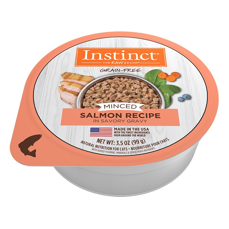 Nature's Variety Grain-Free Minced Recipe with Real Salmon Wet Cat Food Cups 3.5-oz I014946