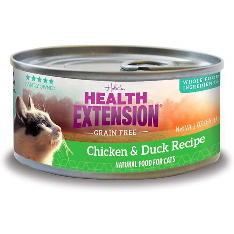 Health Extension Grain Free Chicken & Duck Recipe Cat Food 3 oz I014954