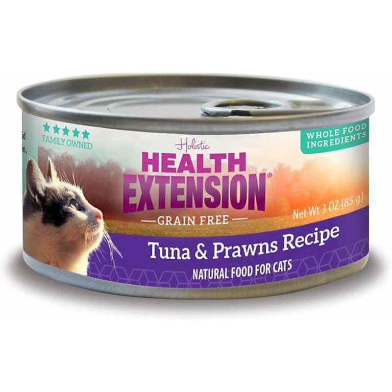Health Extension Grain Free Tuna & Prawns Recipe Cat Food 3 oz I014955