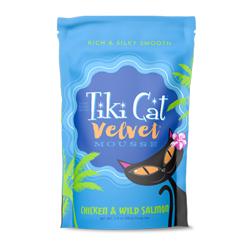 Tiki Cat® Velvet Mousse™ Chicken & Wild Salmon Grain Free 2.8 oz. I014987