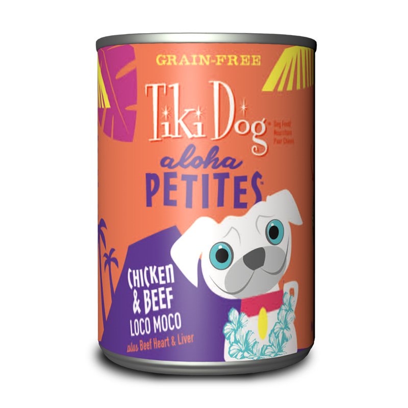 Tiki Dog™ Aloha Petites™ Chicken & Beef Loco Moco Wet Dog Food 9 oz. Can I015010
