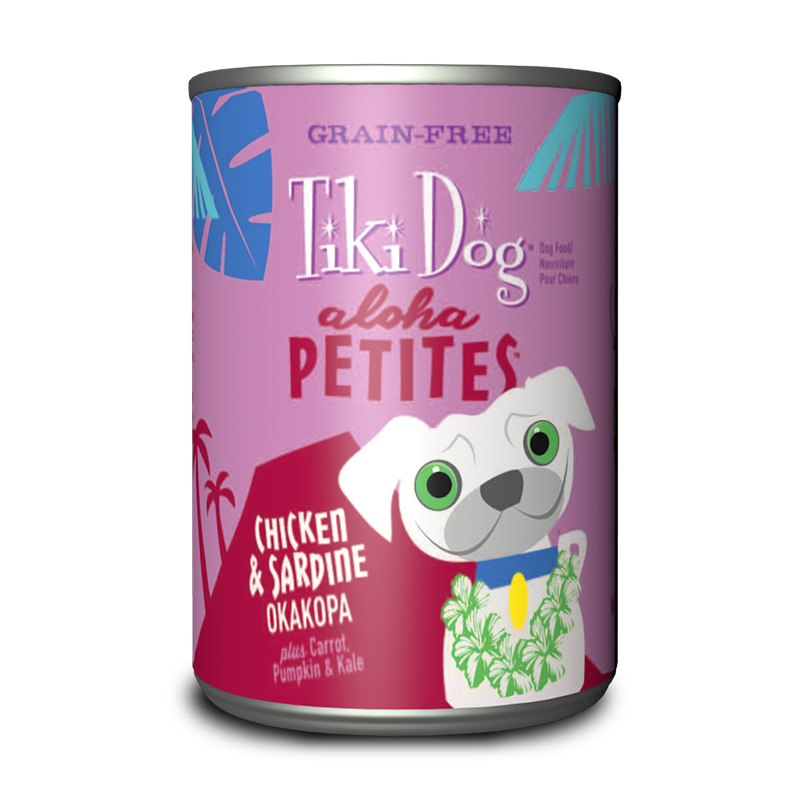 Tiki Dog™ Aloha Petites™ Chicken & Sardine Okakopa GF Wet Dog Food 9 oz. Can I015013
