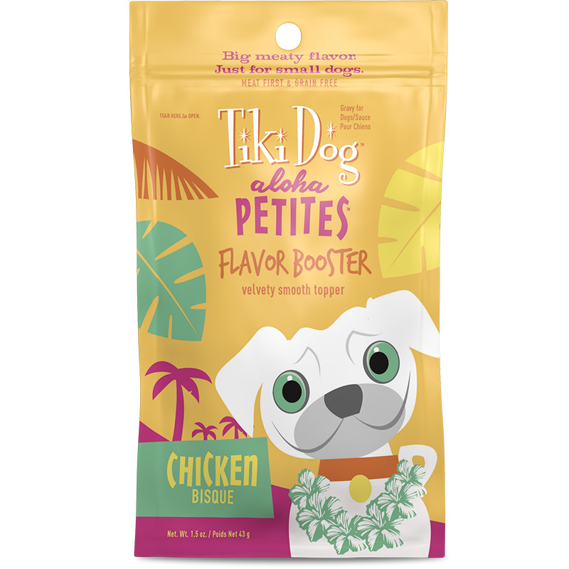 Tiki Dog Aloha Petites Flavor Booster Chicken Bisque 1.5 oz  I015037
