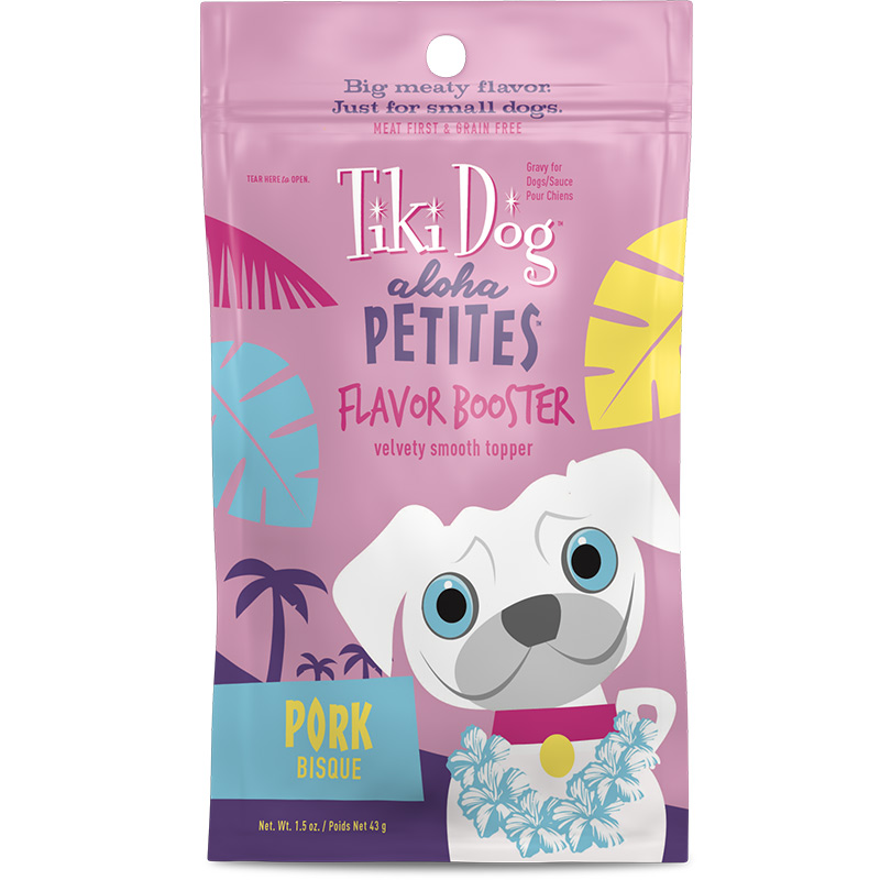 Tiki Dog Aloha Petites Flavor Booster Pork Bisque 1.5 oz I015038