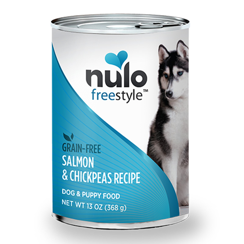 Nulo Puppy & Adult Grain Free Salmon & Chickpeas Recipe 13 oz. Can I015060