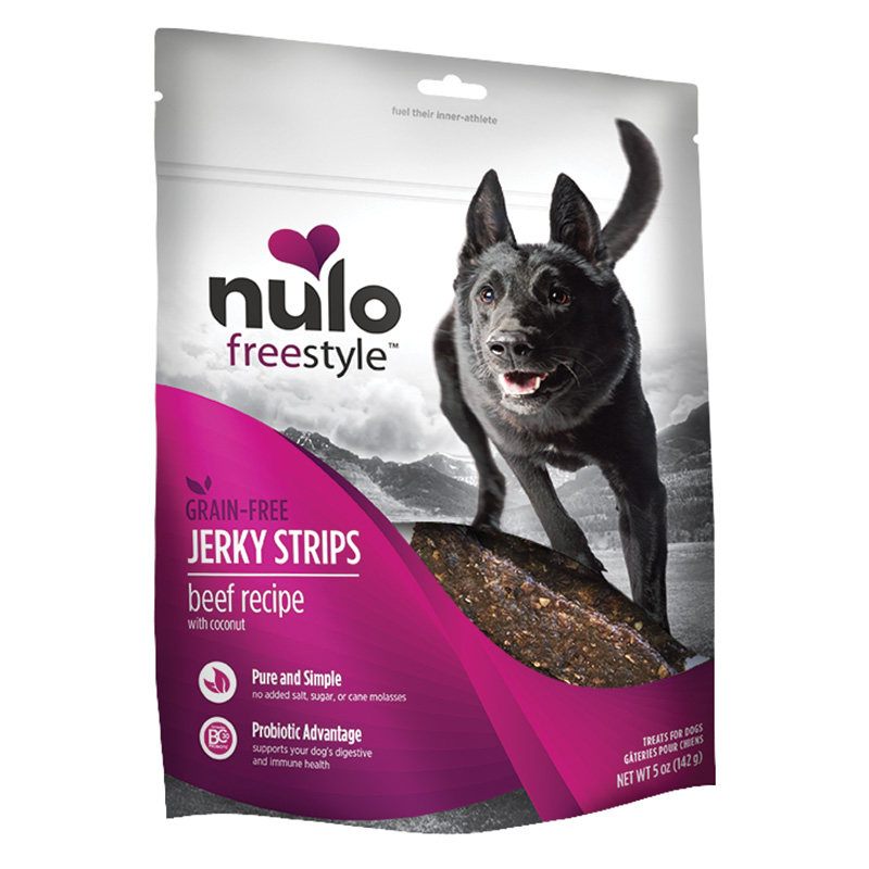 Nulo Freestyle Jerky Strips Beef Recipe with Coconut 5oz. I015070