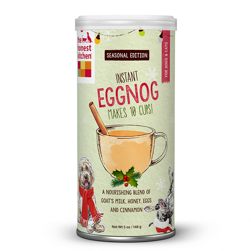 The Honest Kitchen Instant Eggnog With Goat's Milk, Egg, Honey & Cinnamon 5 oz Can I015080