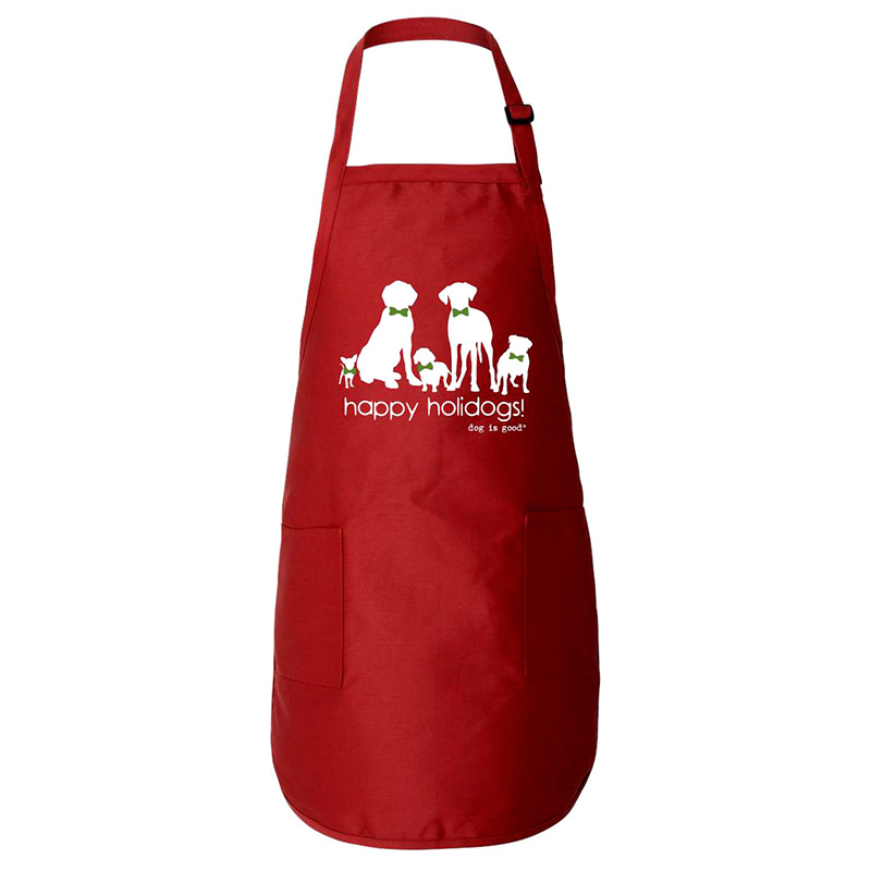 Dog is Good Red Happy Holidogs! Apron I015089