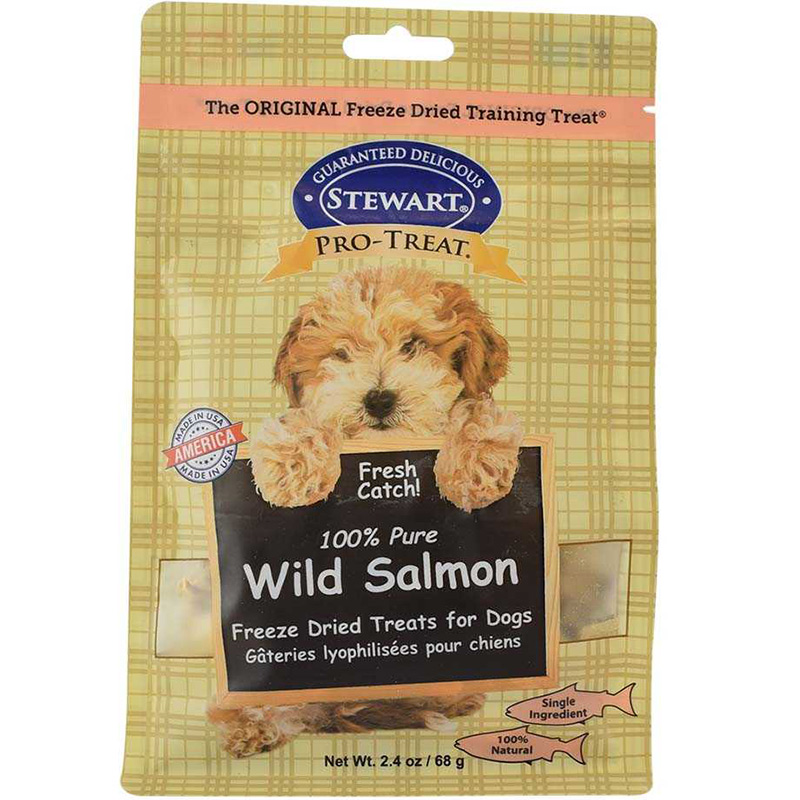 Stewart Pro-Treat Freeze Dried Wild Salmon Treats 2.4 oz. I015144