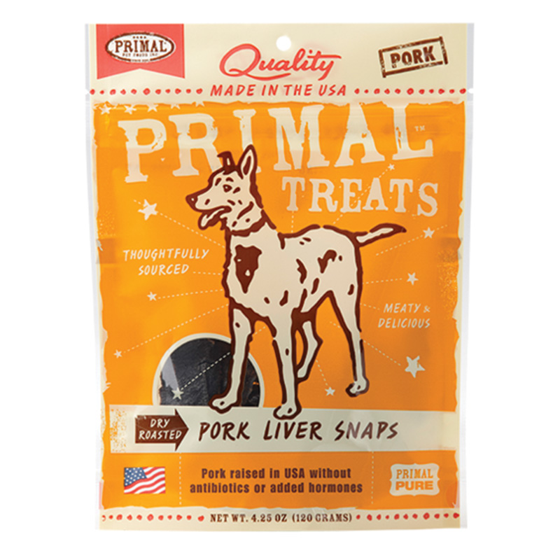 Primal™ Dry Roasted Pork Liver Snaps For Dogs I015186