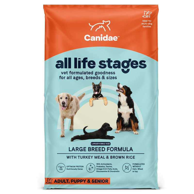 CANIDAE All Life Stages Large Breed Formula with Turkey Meal & Brown Rice 30 lbs I015192