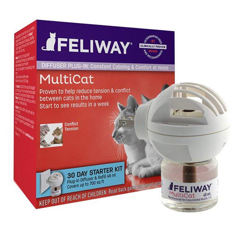 Feliway MultiCat Diffuser 30 Day Starter Kit I015203