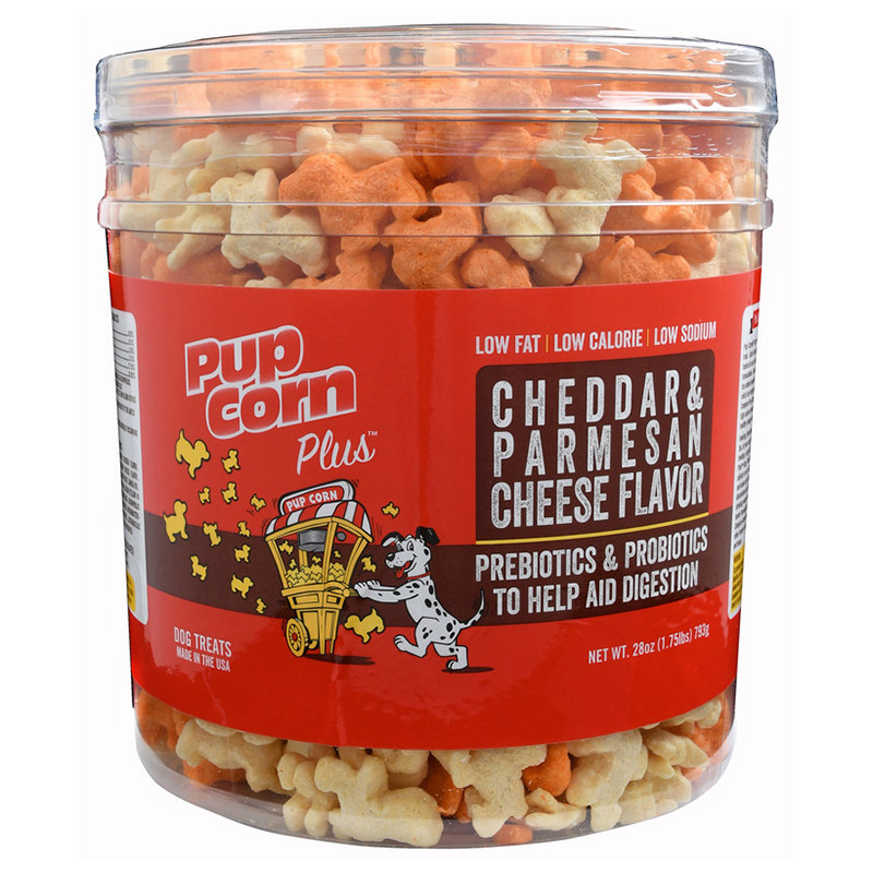 Triumph Pupcorn Plus Parmesan & Cheddar Dog Treats 28oz. I015240