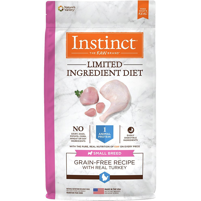 Instinct Limited Ingredient Diet Grain-Free Recipe with Real Turkey for Small Breed Dogs I015260