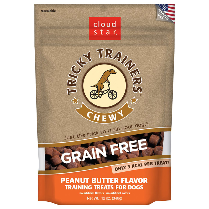 Cloud Star Tricky Trainers Chewy Grain Free Peanut Butter Flavor Training Treats 5.5oz. I015296
