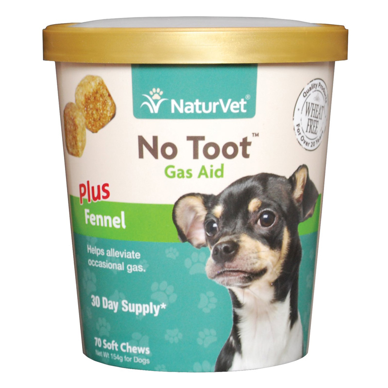 Naturvet No Toot Gas Aid Soft Chew Plus Fennel 70 ct I015440
