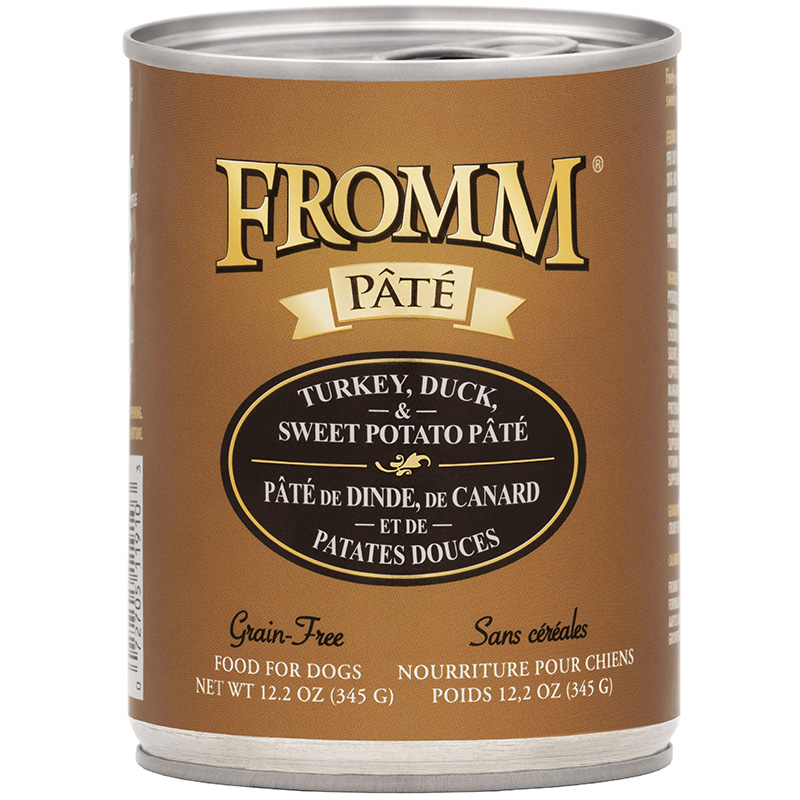 Fromm Pate Grain-Free Turkey, Duck & Sweet Potato Dog Food 12.2 oz I015447