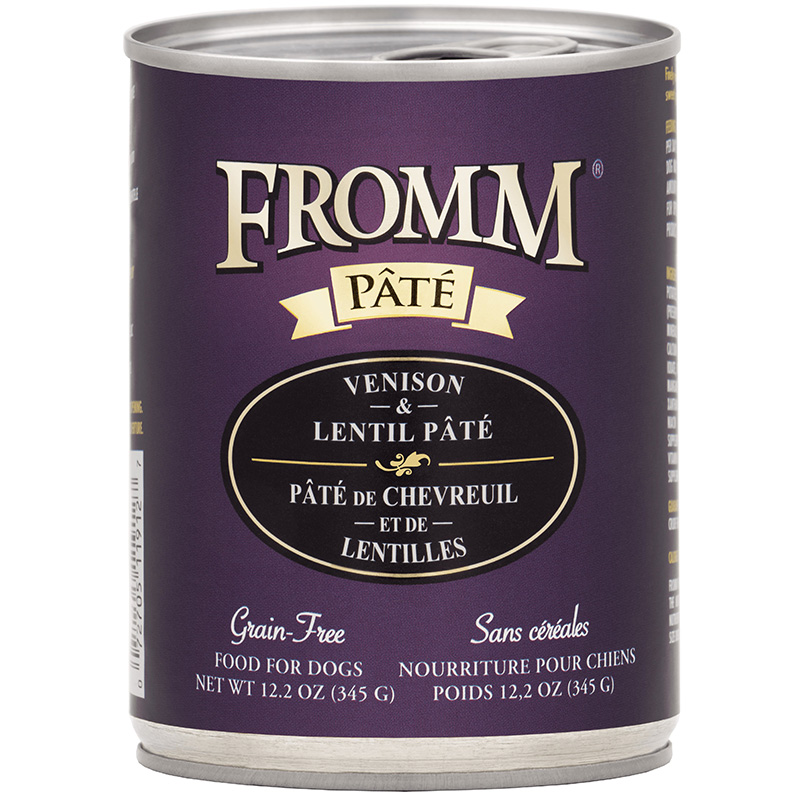 Fromm Pate Grain-Free Venison & Lentil Pate Dog Food Can 12.2 oz. I015448
