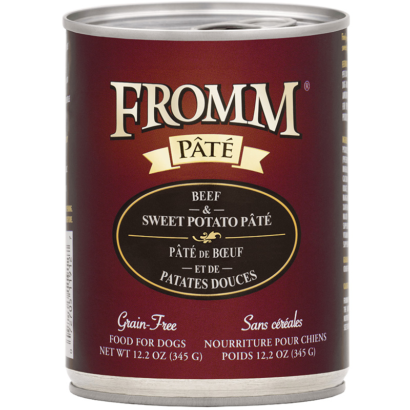 Fromm Pate Grain-Free Beef & Sweet Potato Dog Food Can 12.2 oz. I015449