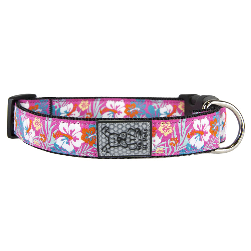 Hibiscus Dog Clip Collars I015491b