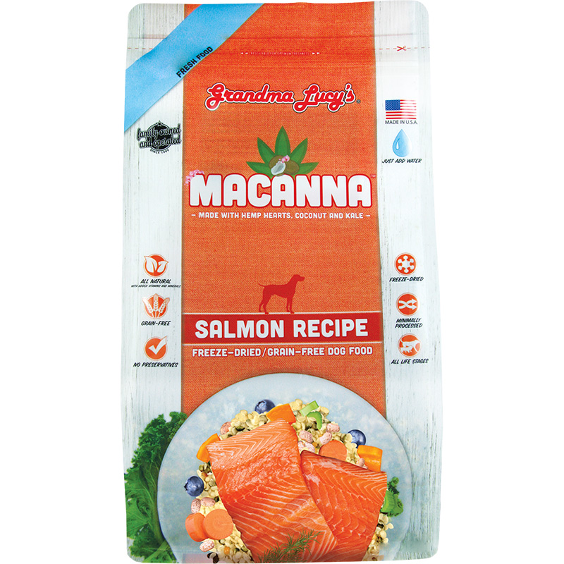 Grandma Lucy's Macanna Salmon Freeze-Dried Grain Free Dog Food 1 lb. I015529