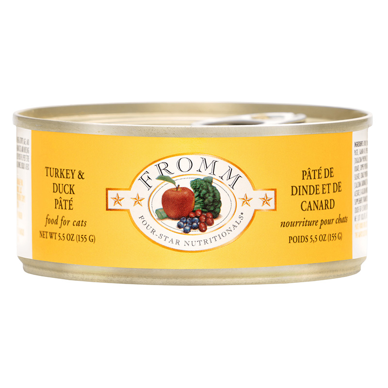 Fromm Four-Star Nutritionals Turkey & Duck Pate Cat Food Can 5.5 oz. I015604