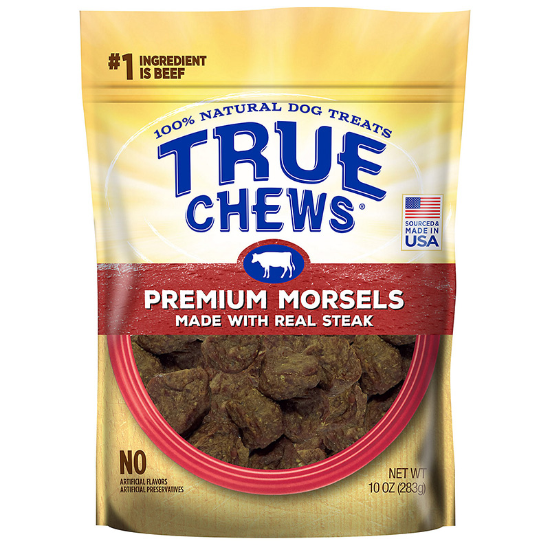 Tyson True Chews Premium Morsels Made With Real Steak Dog Treat 10 oz. I015618