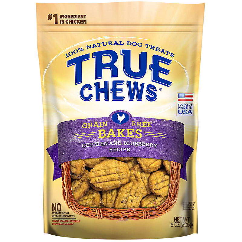 Tyson True Chews Grain Free Bakes Chicken & Blueberry Recipe Dog Treats 8 oz. I015622