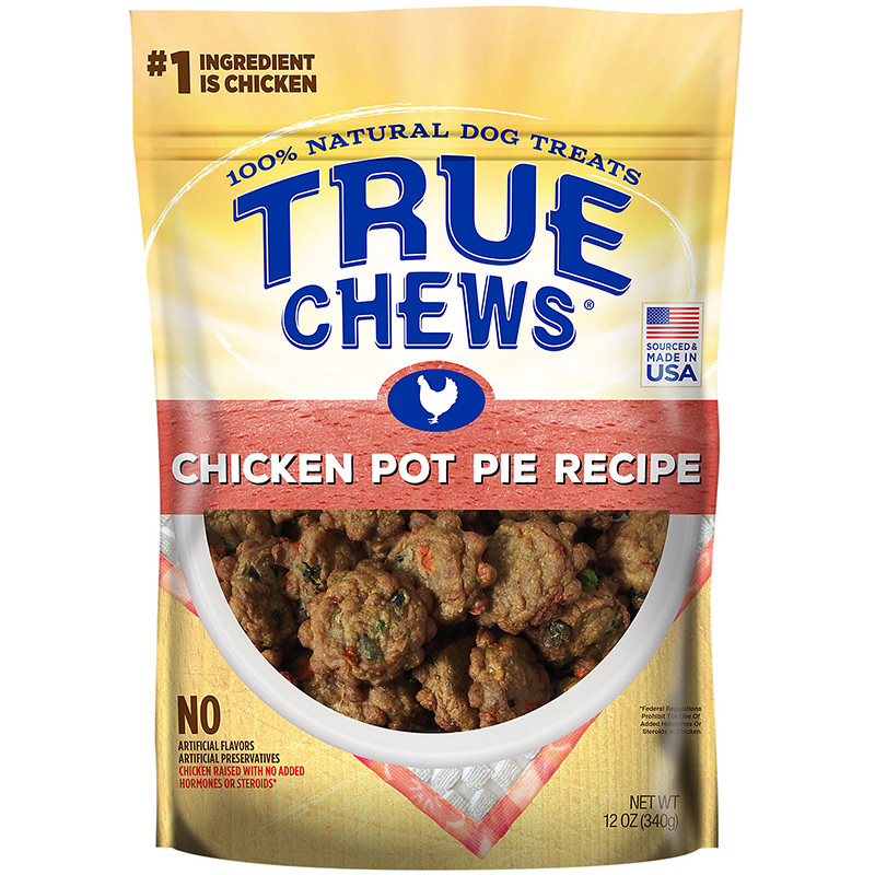 Tyson True Chews Homestyle Recipes Chicken Pot Pie Recipe Dog Treat 12 oz. I015623