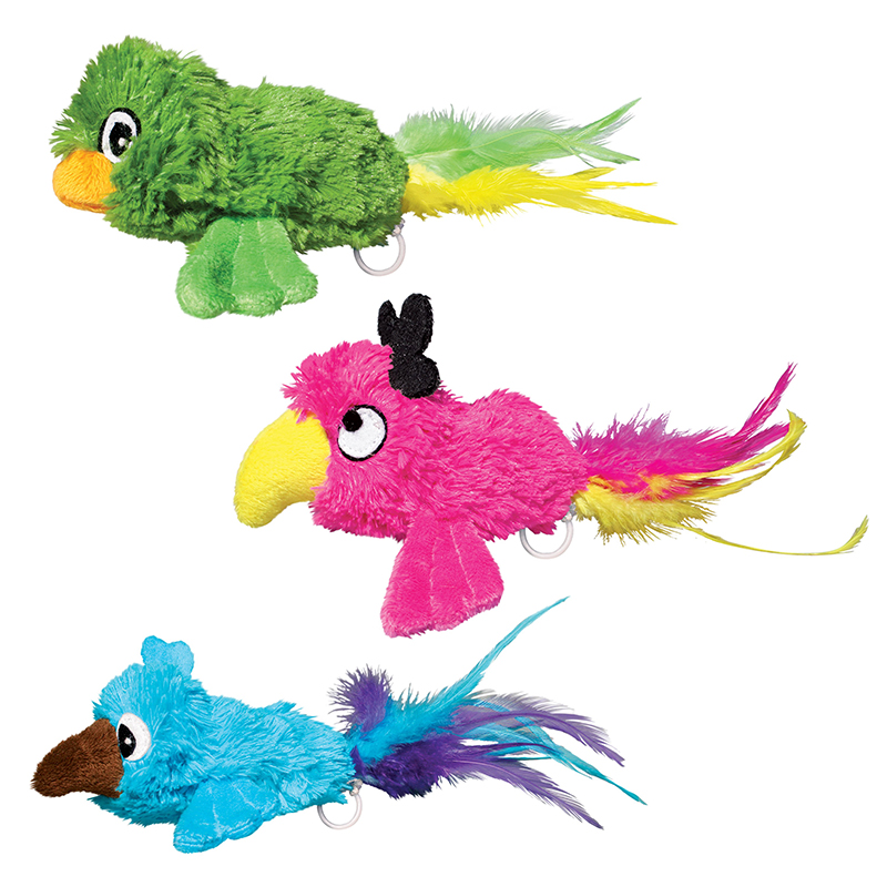 KONG Buzzie Birds Assorted Cat Toy I015704