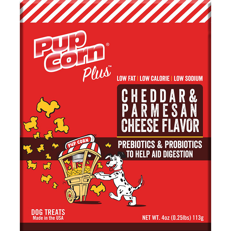 Triumph Pupcorn Plus Parmesan & Cheddar Dog Treats 4 oz. I015775