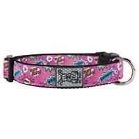 RC Pet Products Pink Comic Sounds Collar  I015947b