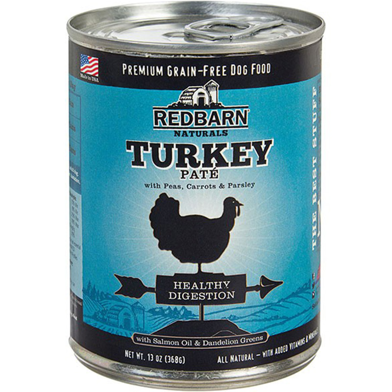 Redbarn Natural Grain-Free Digestion Turkey Recipe Pate for Dogs 13 oz I016014