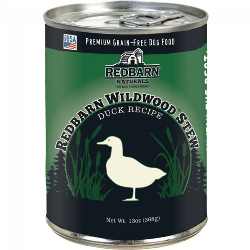 Redbarn GF Natural Duck Wildwoods Stew-Skin & Coat  Dog Food 13 oz I016015