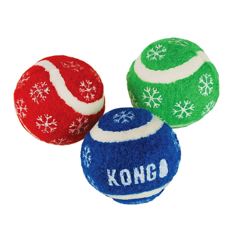 KONG Holiday Balls with Bells Cat Toy 3pk I016143